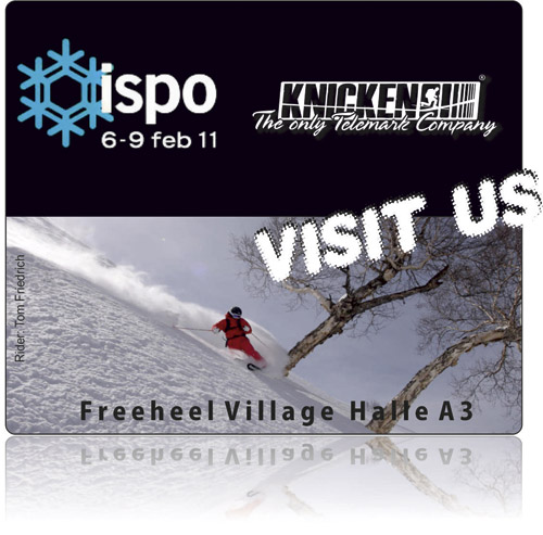 Visit us! at the Freeheeler Village in hall A3. Munich 6.-9. Februar
